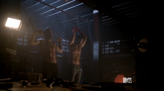 Tyler Hoechlin ian bohen shirtless teen wolf