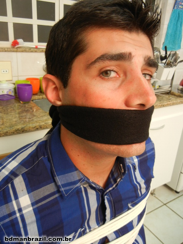 Black & Blue tape gags
