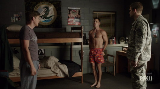 parker young shirtless enlisted