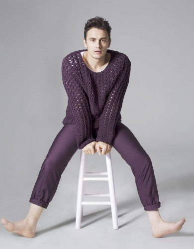 James Franco purple outfit