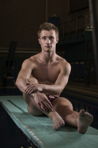 JACK LAUGHER GB OLYMPIC DIVER PICTURED AT LEEDS TRAINING POOL PHOTO CREDIT PAUL COOPER