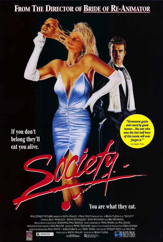 Society movie (1986)–a hot and gay(?) influence