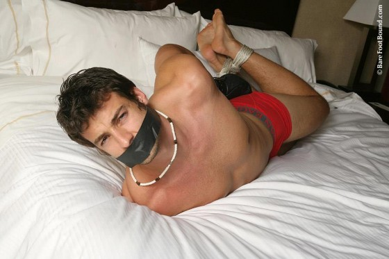 Hogtied in Underwear