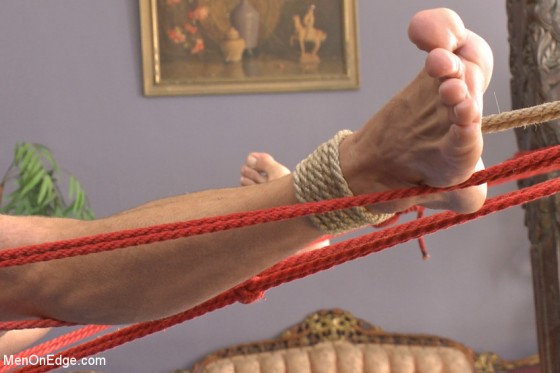 Roped up feet